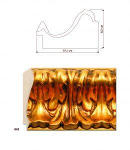 Molduras clássicas ouro e prata